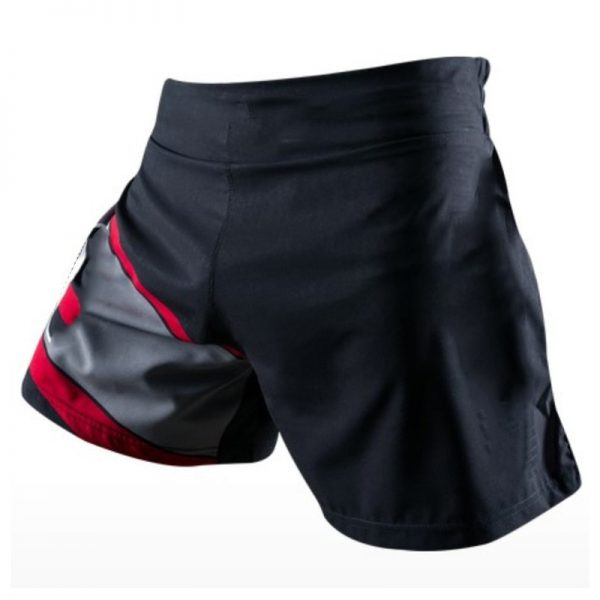MMA Training Cage Striped Grappling Kickboxing Shorts Black Grey 1