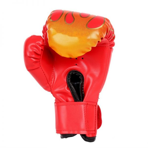 MMA Leather Boxing Gloves Training Punching Bag Sparring Gloves Red 1