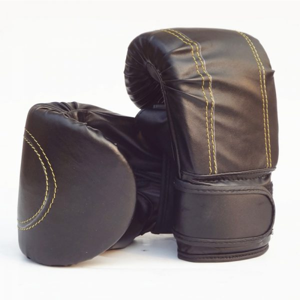 Boxing Gloves Punch Bag Training MMA Fight Sparring Pair Black 1