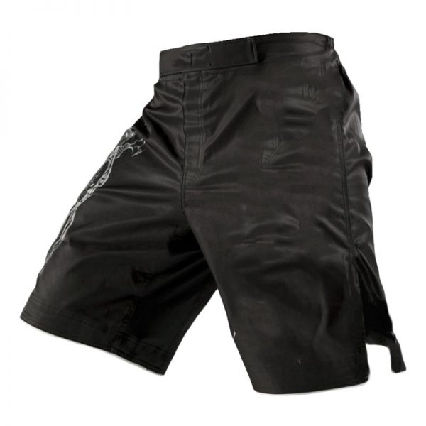 MMA Training Cage Fighting Grappling Muay Thai Kickboxing Shorts Black 1
