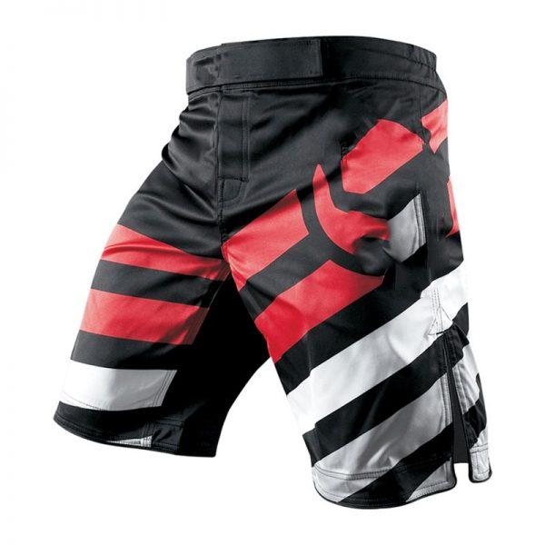 MMA Training Cage Striped Grappling Muay Thai Kickboxing Shorts 1