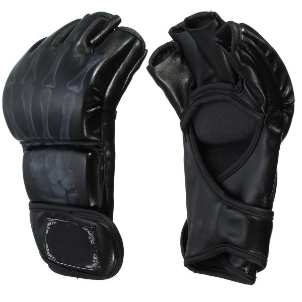 MMA Grappling Gloves Boxing Training Kick Muay Thai Fight Black 1