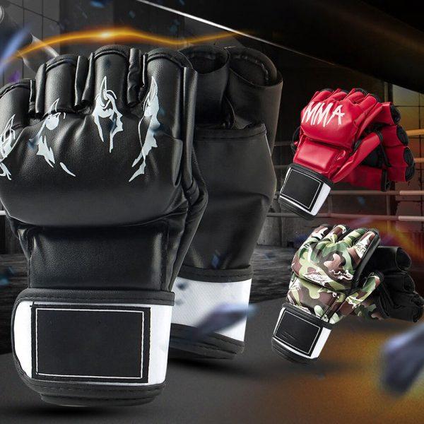Grappling Taekwondo Half Finger MMA Gloves Punching Cage 1