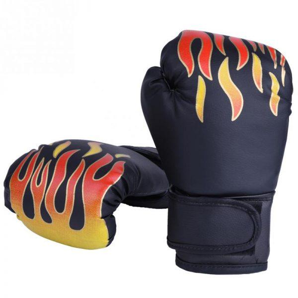Boxing Gloves Pro Training Sparring Kickboxing Muay Thai UFC Mitts Black 1