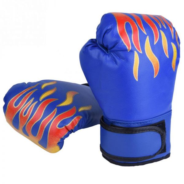 Boxing Gloves Pro Training Sparring Kickboxing Muay Thai UFC Mitts Blue 1
