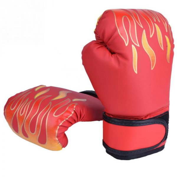 Boxing Gloves Pro Training Sparring Kickboxing Muay Thai UFC Mitts Red 1