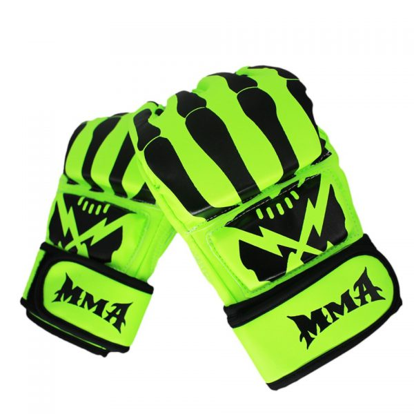 MMA Sparring Grappling Boxing Gloves Fight Punch Mitts Green 1