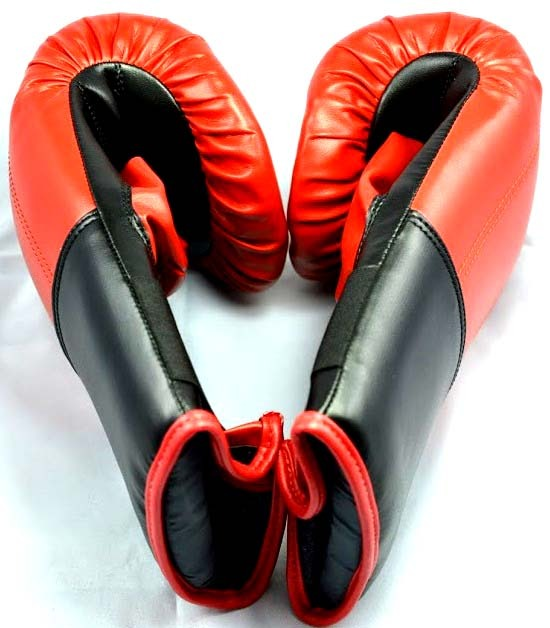 Beginners Leather Boxing MMA Kick Boxing Sparring Gloves Red 1