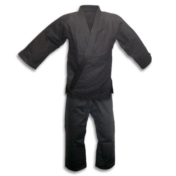 Judo Gi Kimono 100% Cotton Preshrunk Uniform Black 1