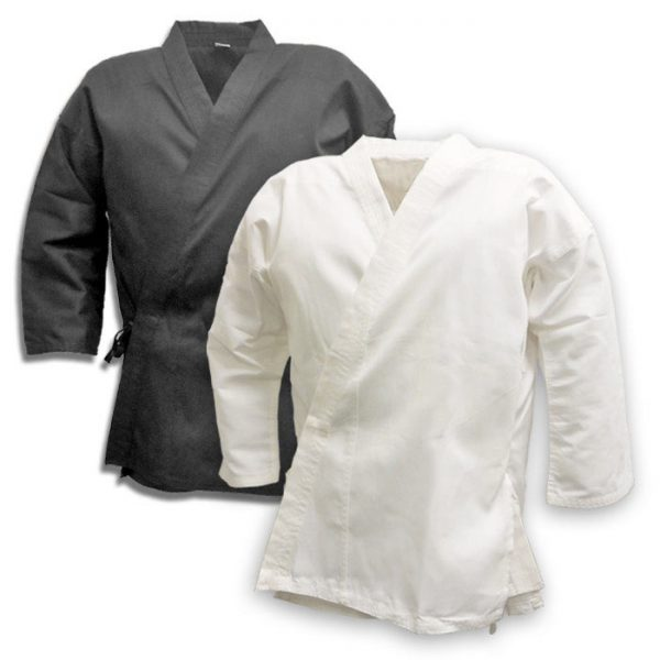 100% Cotton 8oz Karate Suit White Black Karate Gi 1