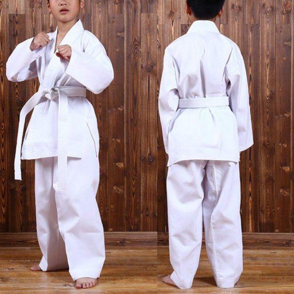 Kids Karate Suit 100% Polyester Cotton White Gi 1