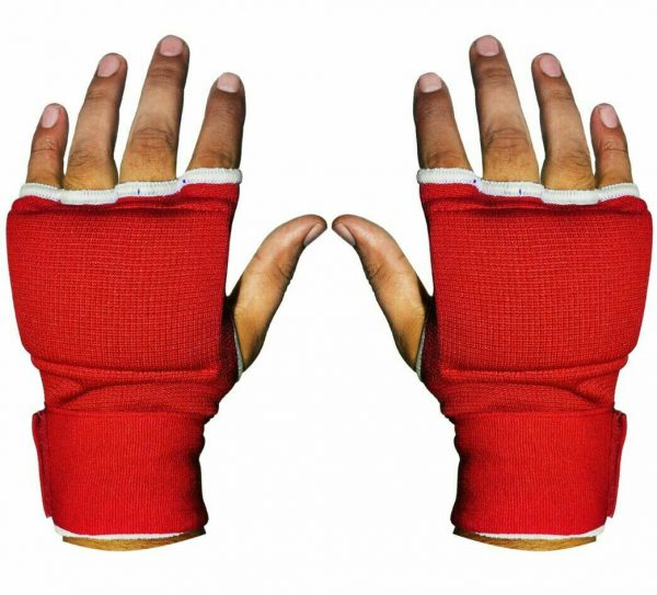 Gel Padded Inner Gloves with Hand Wraps MMA Muay Thai Boxing Fight Red 1
