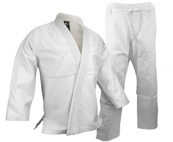 BJJ Gi Kimono 100% Cotton Preshrunk Jiu Jitsu Uniform White 1