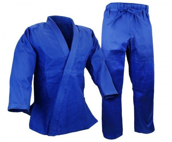 BJJ Gi Kimono 100% Cotton Preshrunk Jiu Jitsu Uniform Blue 1