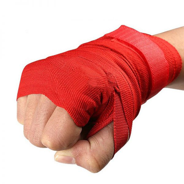 MMA Boxing Hand Wraps Bandages Protector Muay Thai Wraps Red 1