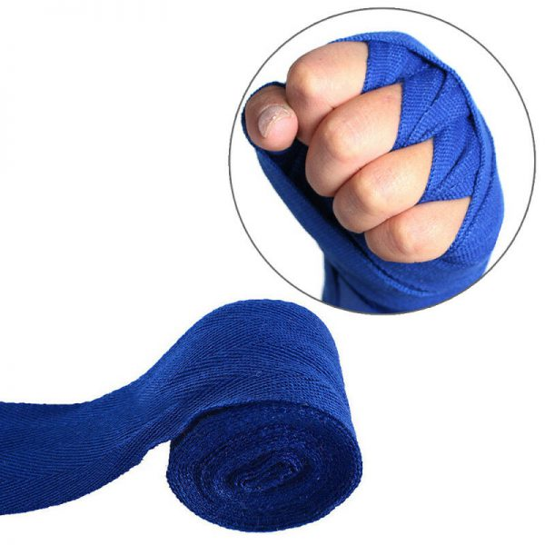 MMA Boxing Hand Wraps Bandages Protector Muay Thai Wraps Blue 1