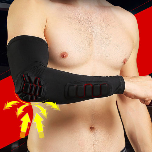 Elbow Pads Anti Shock Stretch Padded Support Arm Sleeves 1