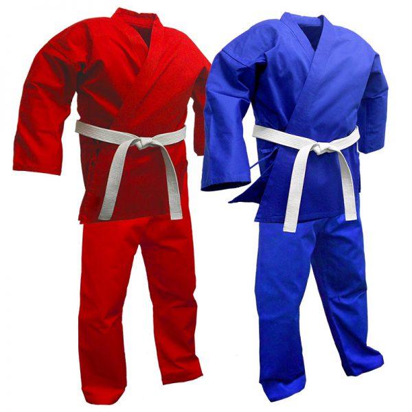 Full Size Pro Karate Gi 8oz-12oz 100% Cotton Fight Wear 1