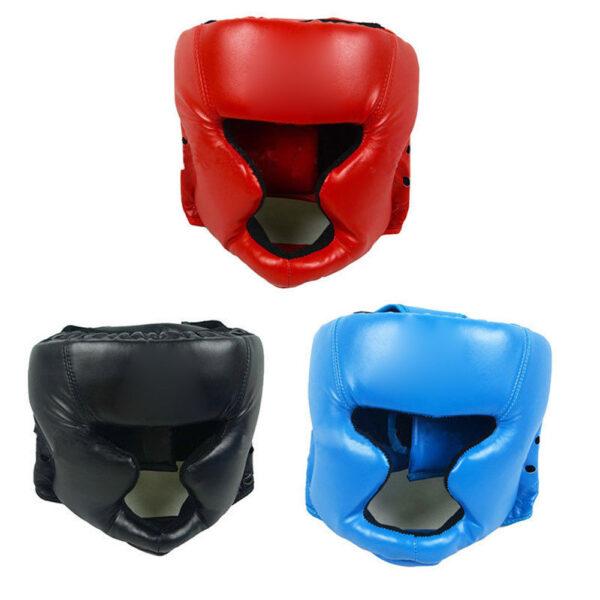 Head Guard Boxing Helmet Training Headgear Face Protector Black 1