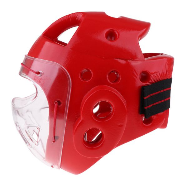 Adult Boxing Helmet Head Guard Martial Arts Gear Fighting Protector Red 1