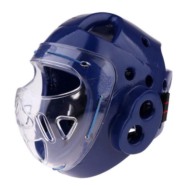 Adult Boxing Helmet Head Guard Martial Arts Gear Fighting Protector Blue 1