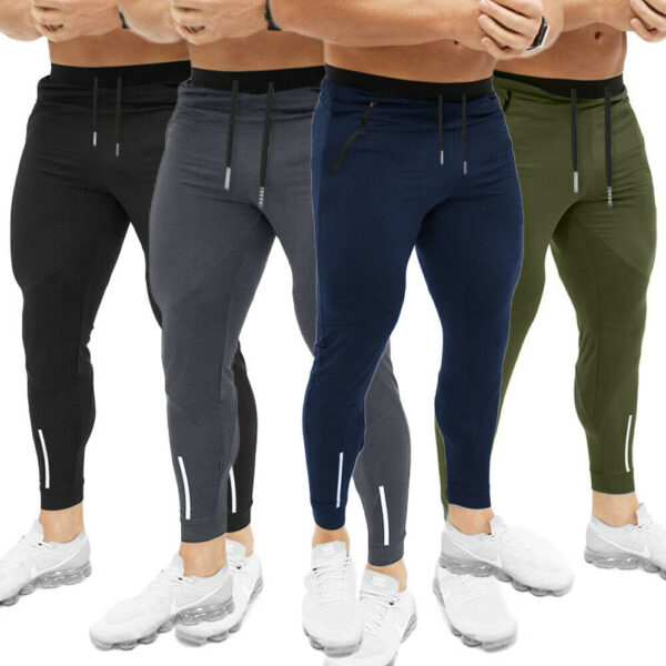 Mens Jogging Fitness Trousers Slim Cotton Pencil Pants 1